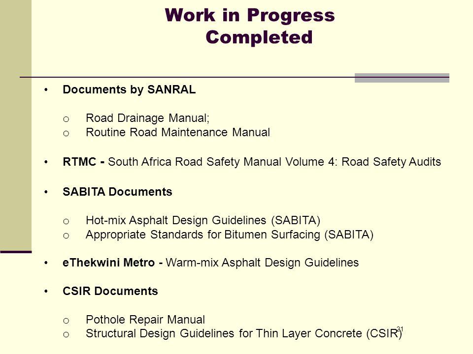 manual of sanral routine road maintenance