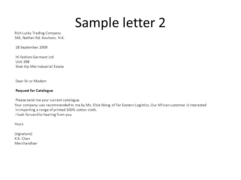 Enquiry letters unit 4 part ppt video online download 11 sample expocarfo Image collections