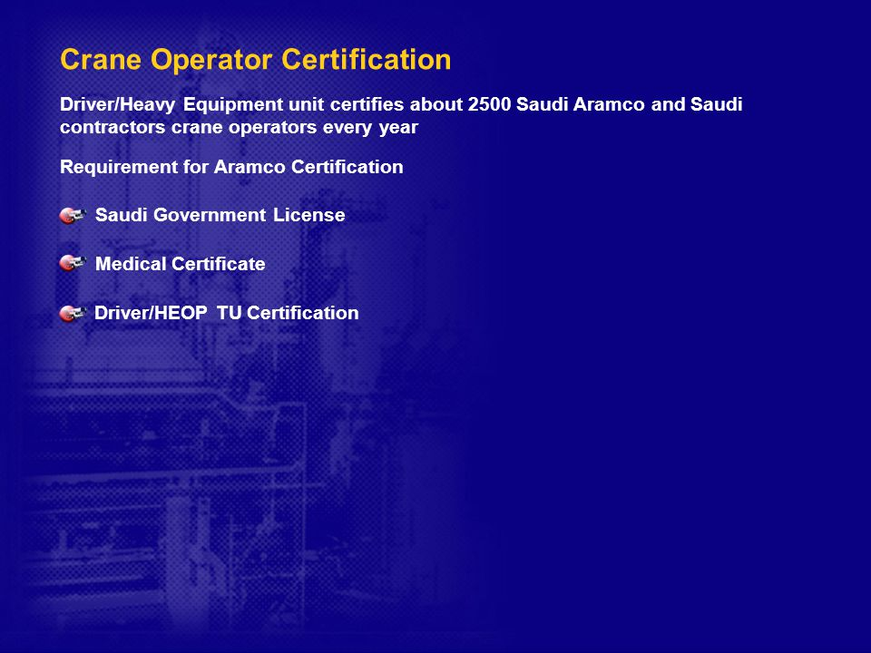 Crane Operator Training and Certification - ppt download
