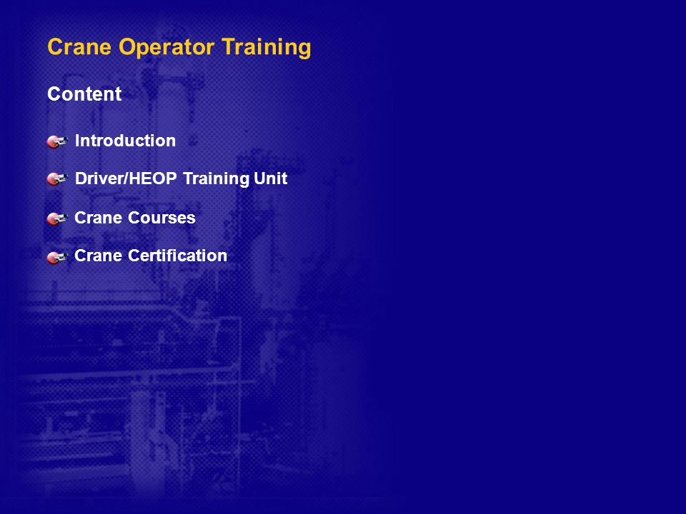 Crane Operator Training And Certification Ppt Download