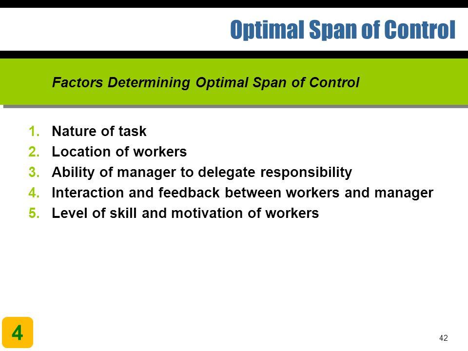 factors determining span of control