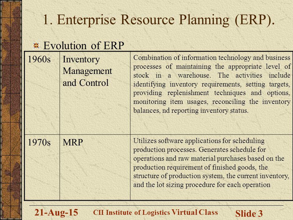 Session 2 Topics Enterprise Resource Planning (ERP) - ppt