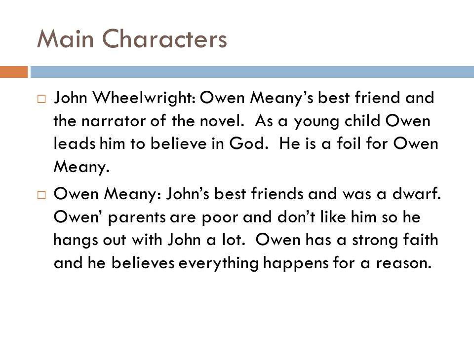 owen meany chapter 8