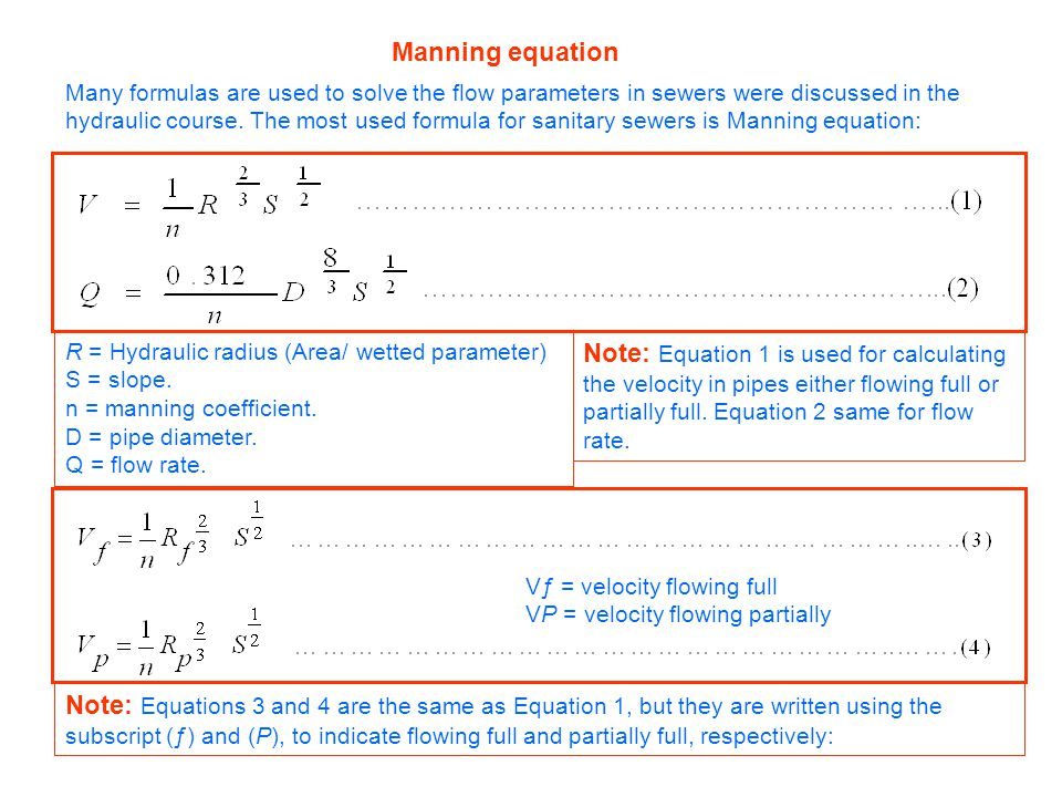 Manning equation