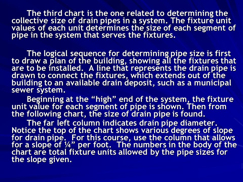 Sewer Piping Design Sewer Piping Differs From Water Piping In That