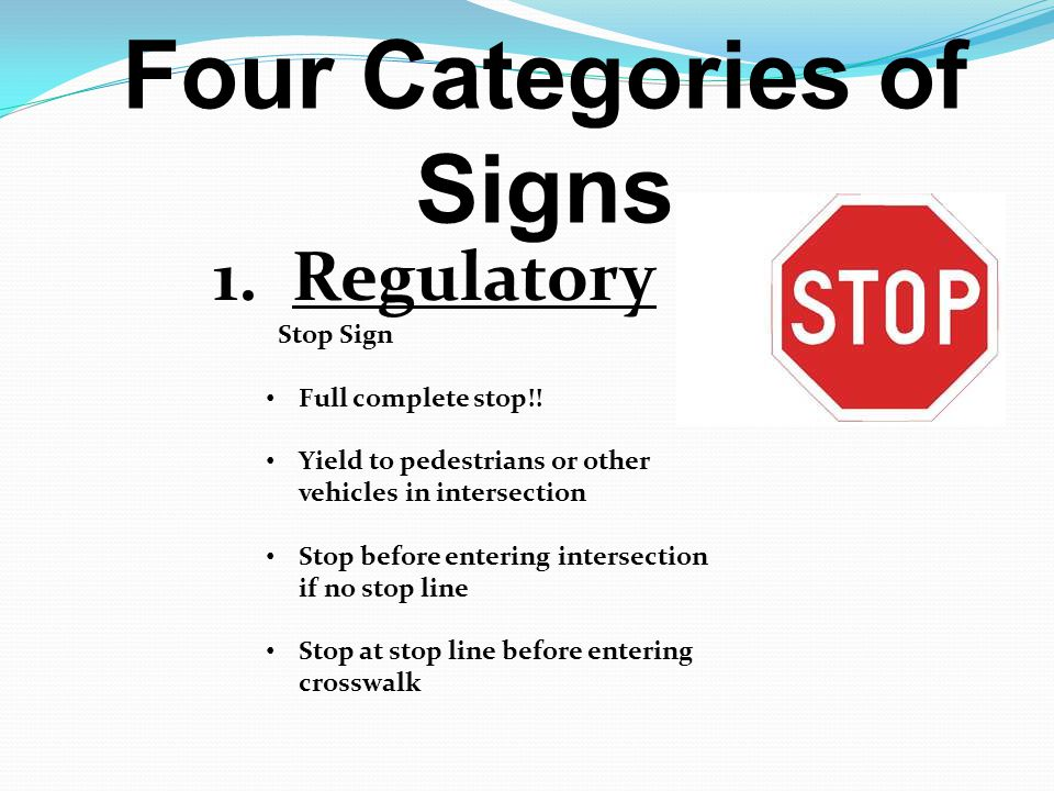 Four Categories of Signs
