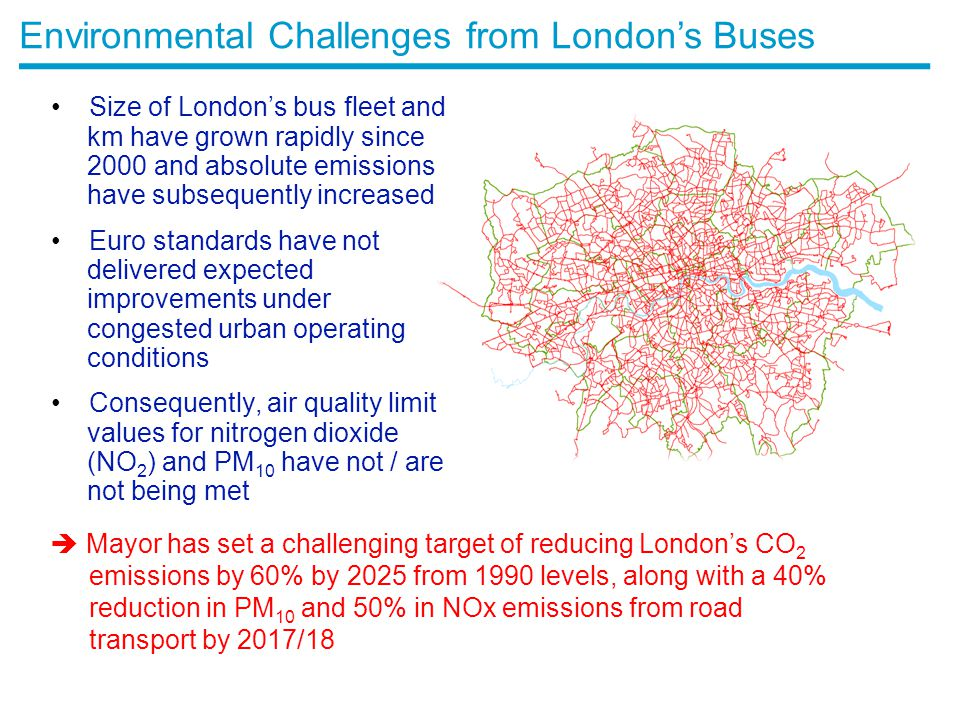 Environmental Challenges from London's Buses