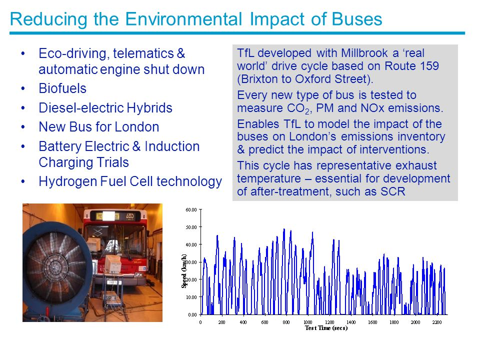 Reducing the Environmental Impact of Buses