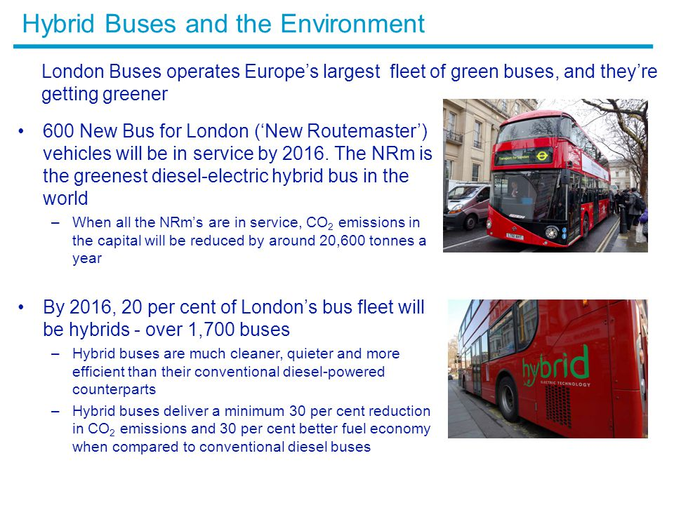 Hybrid Buses and the Environment