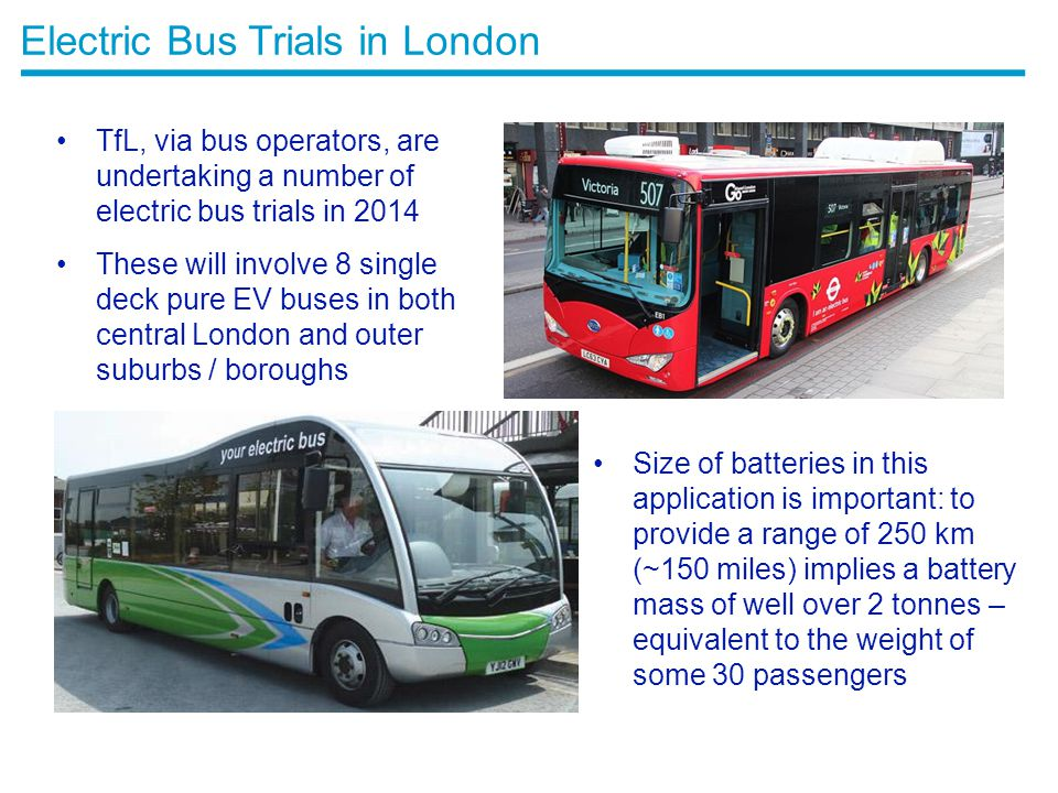Electric Bus Trials in London