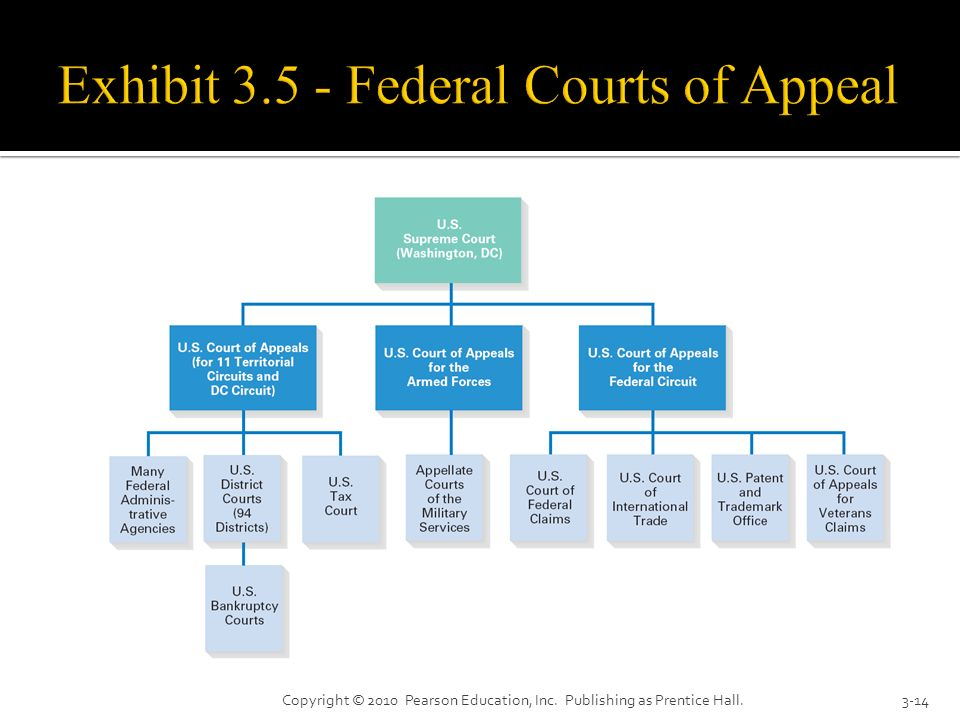 Exhibit Federal Courts of Appeal