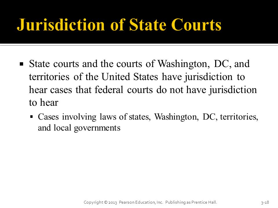 Jurisdiction of State Courts