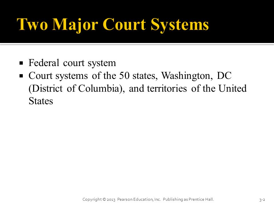 Two Major Court Systems