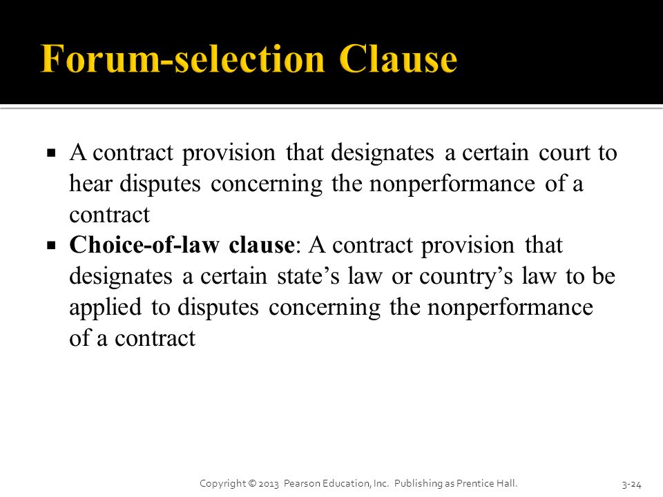 Forum-selection Clause