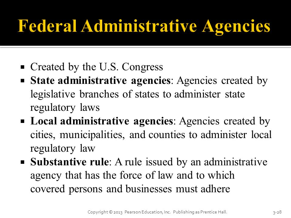 Federal Administrative Agencies