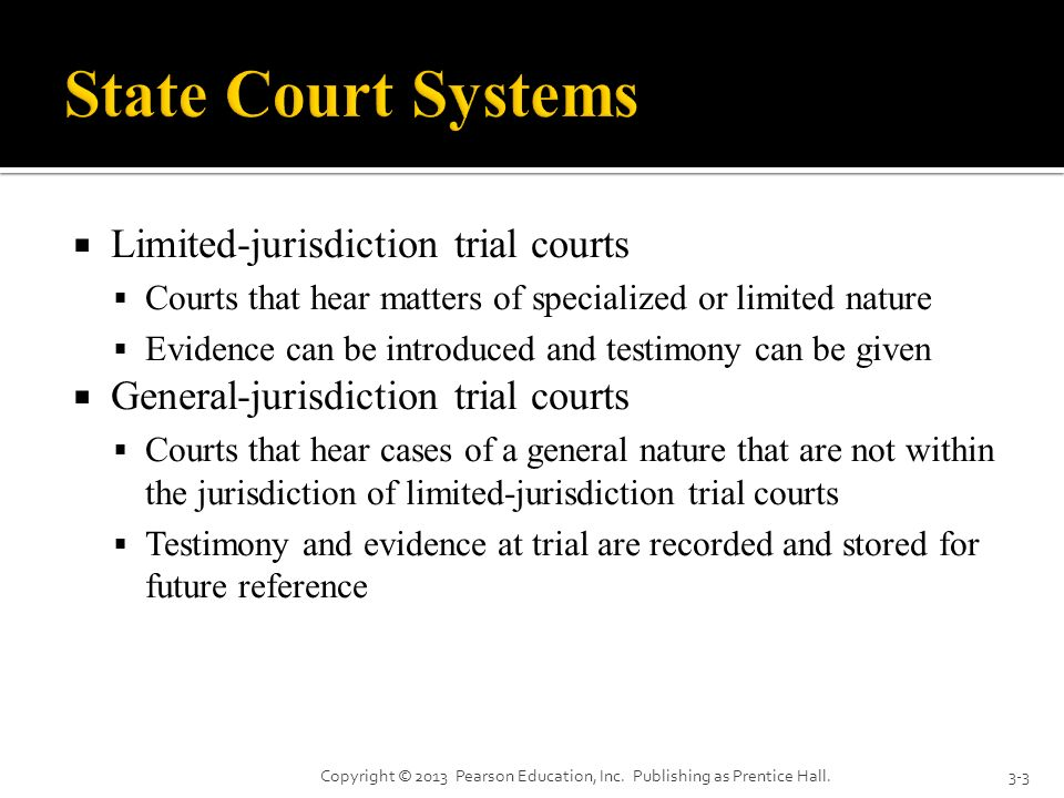 State Court Systems Limited-jurisdiction trial courts