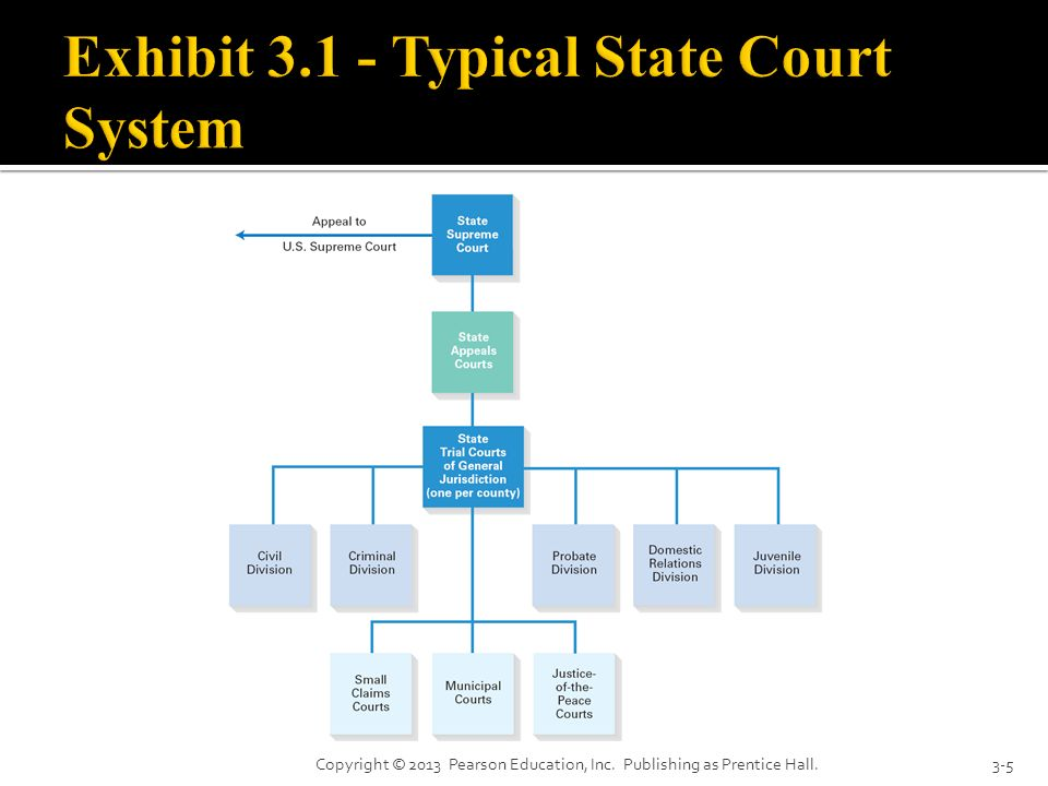Exhibit Typical State Court System