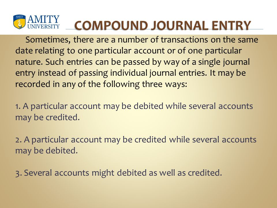 compound journal entry definition
