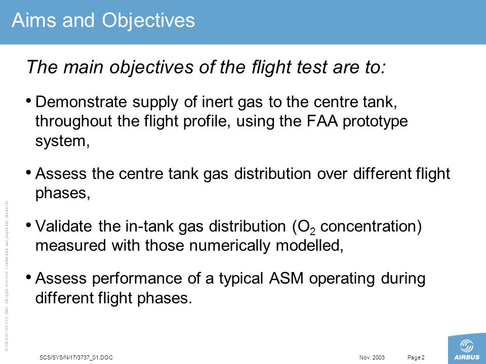 Fuel Tank Inerting Joint Airbus/FAA, A320 Flight Tests - ppt