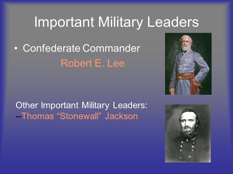 Important Military Leaders