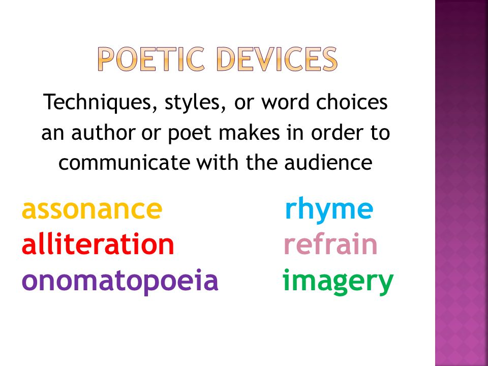 a poem with poetic devices