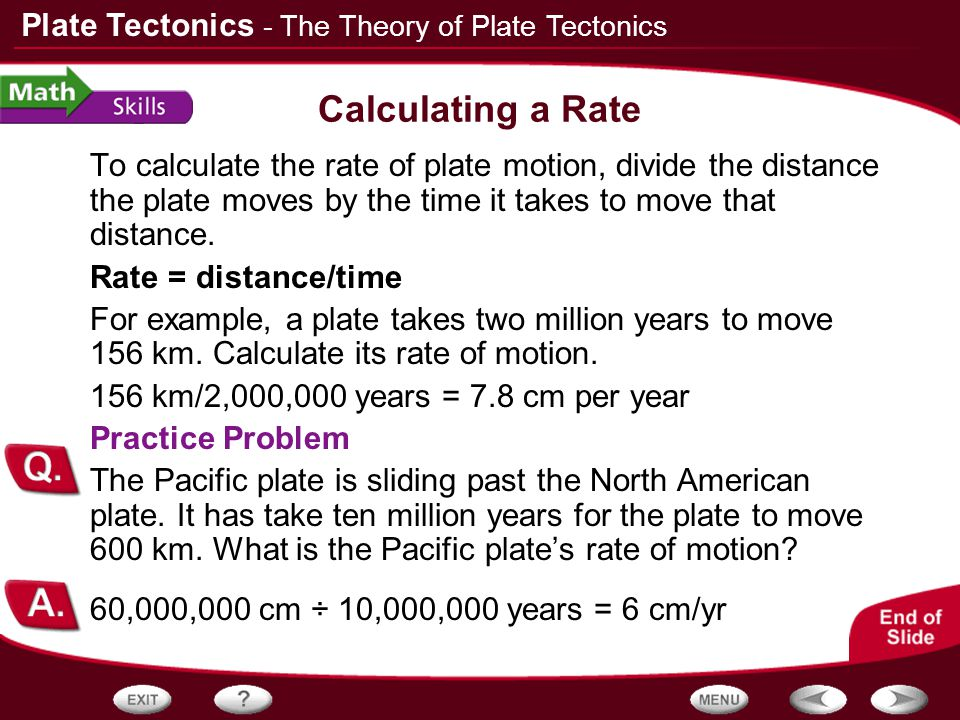 - The Theory of Plate Tectonics