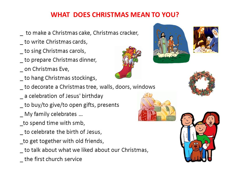 9 what does christmas mean to you