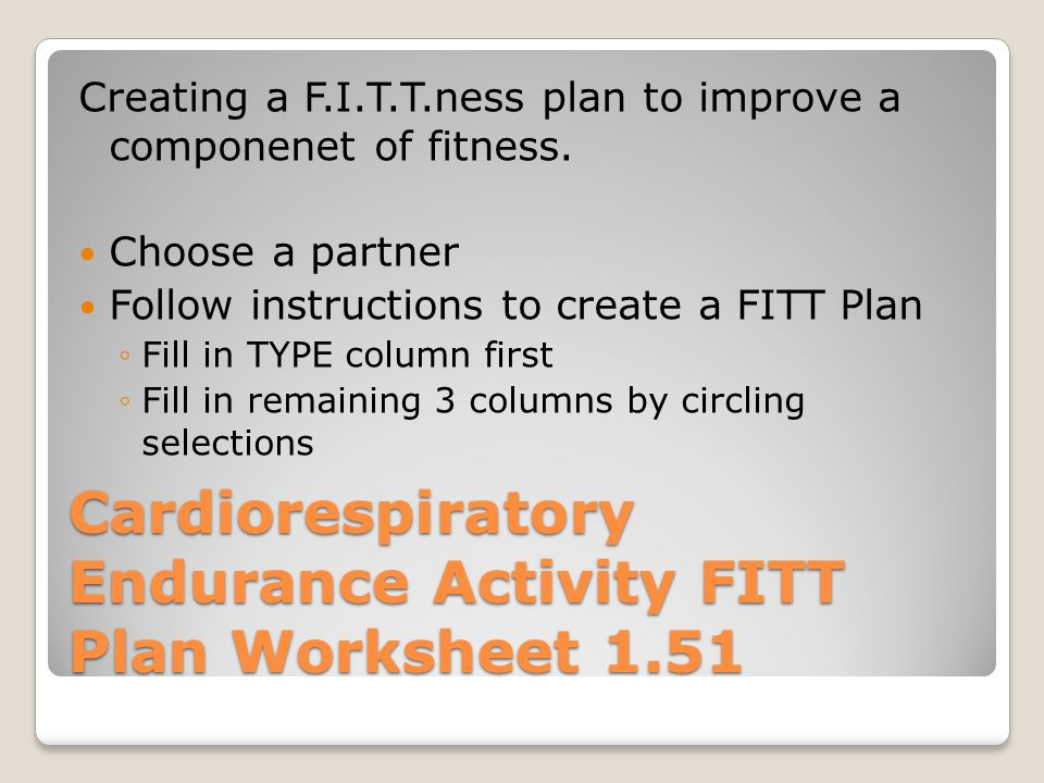 8th Grade Health Week 3 Fitt Principle Ppt Video Online Download