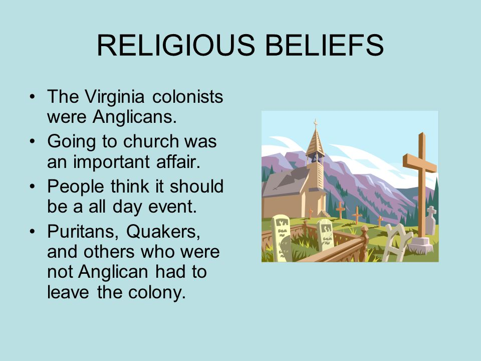 southern colonies religion