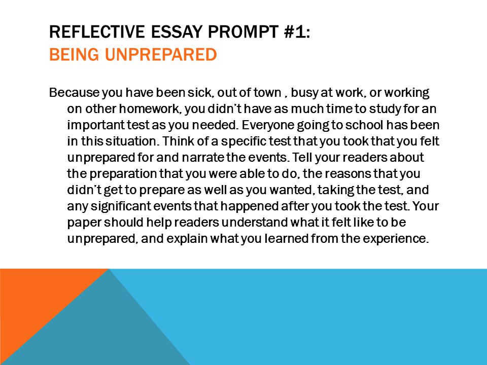 Essays In English  Reflective Essay Prompt  High School Personal Statement Sample Essays also Sample Of Research Essay Paper Rsvp Running Start Virtual Project Lesson  The Reflective Essay  Modest Proposal Essay Examples