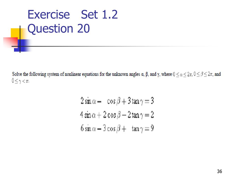 Exercise Set 1.2 Question 20