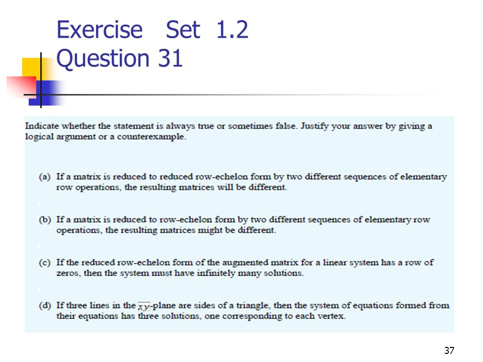 Exercise Set 1.2 Question 31
