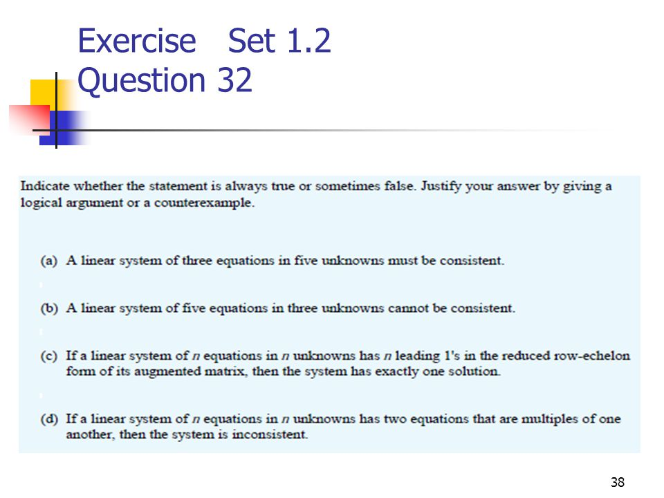 Exercise Set 1.2 Question 32