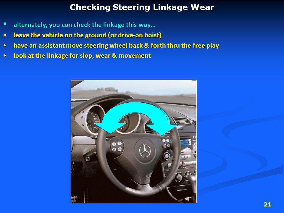 Checking Steering Linkage Wear