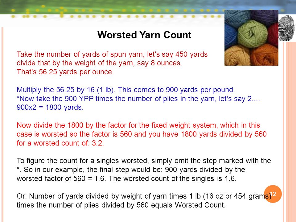 Yarn Count By Dr  Abu Yousuf - ppt video online download