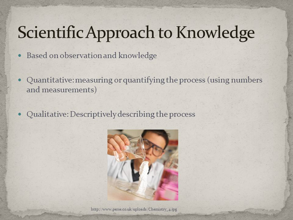 Scientific Approach to Knowledge
