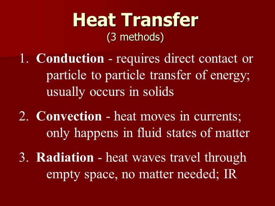 Heat Transfer (3 methods)