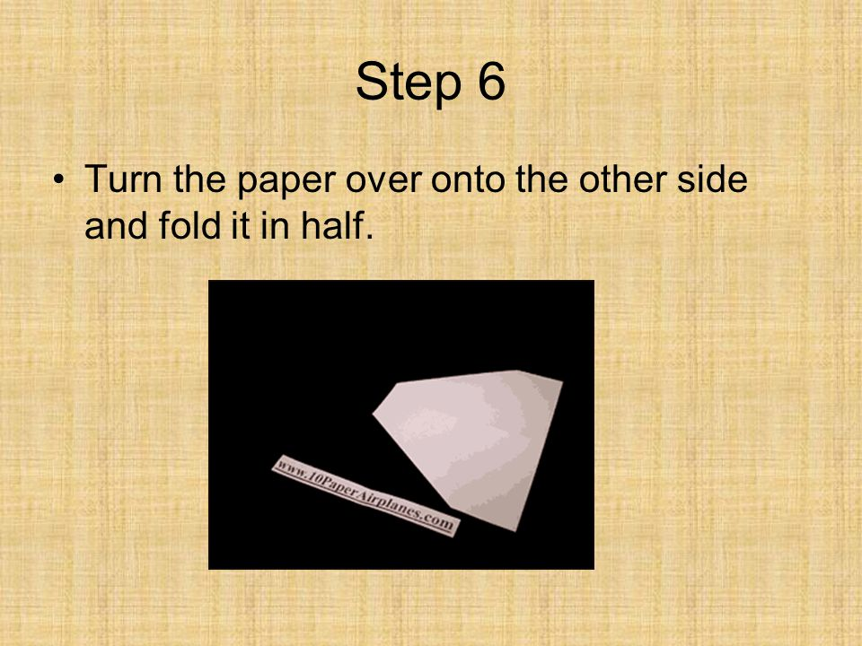 Step 6 Turn the paper over onto the other side and fold it in half.