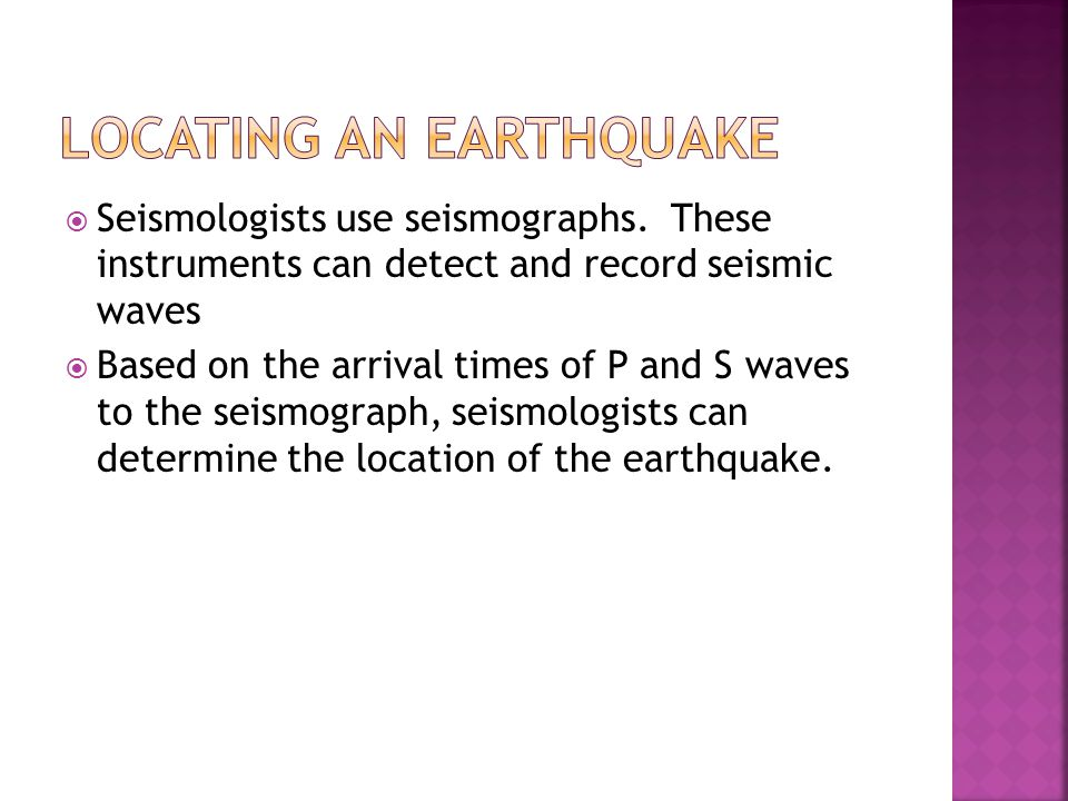 Locating an Earthquake