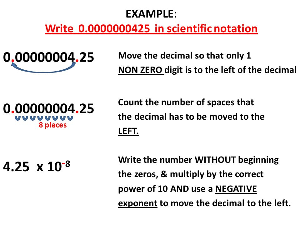 write in scientific notation In this lesson you will learn how to write very large numbers by using scientific notation.