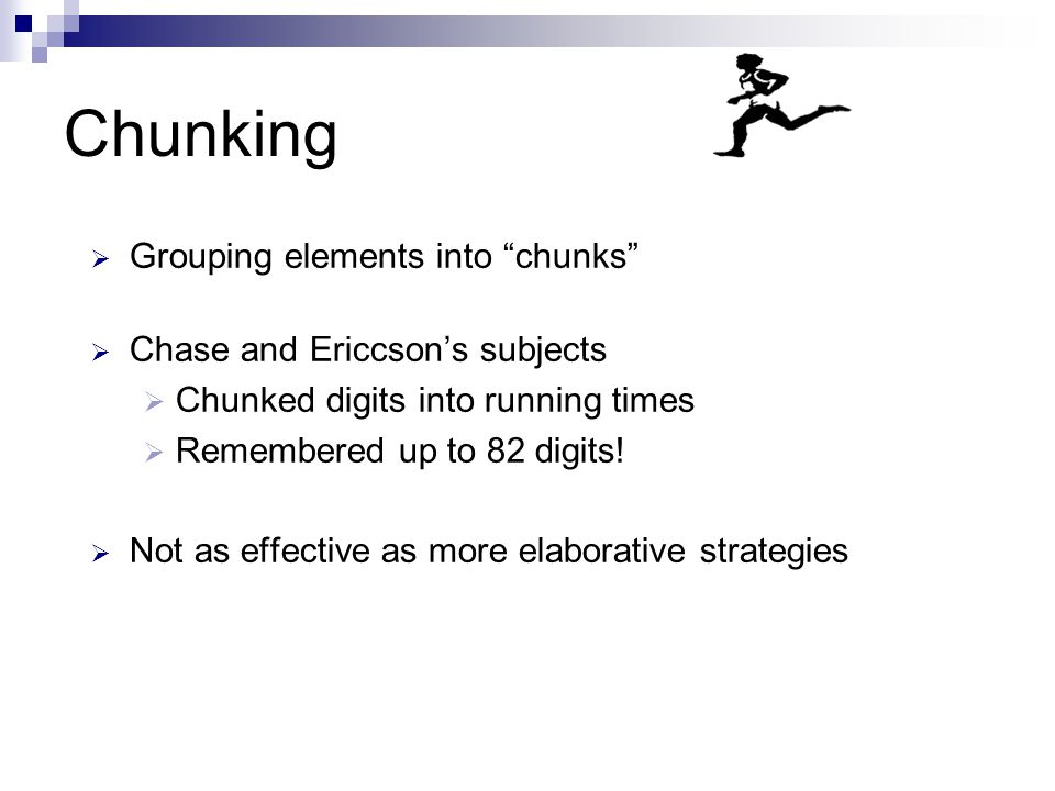 chunking method memory