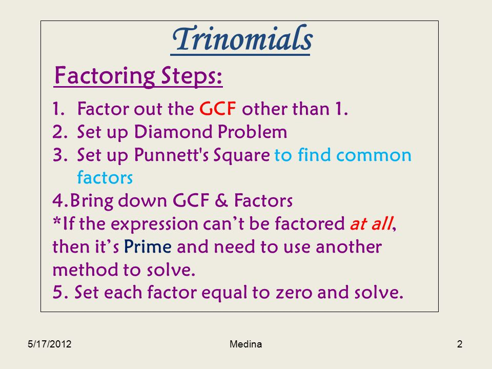 factoring trinomials using the punnett s square ppt video online download. Black Bedroom Furniture Sets. Home Design Ideas