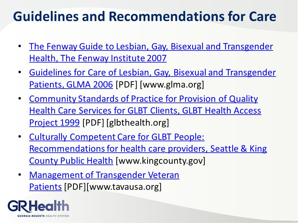 Gay lesbian bisexual and transgender health access project