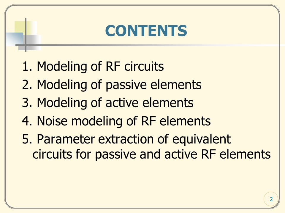 MODELING OF RF DEVICES AND CIRCUITS Elissaveta GADJEVA - ppt download