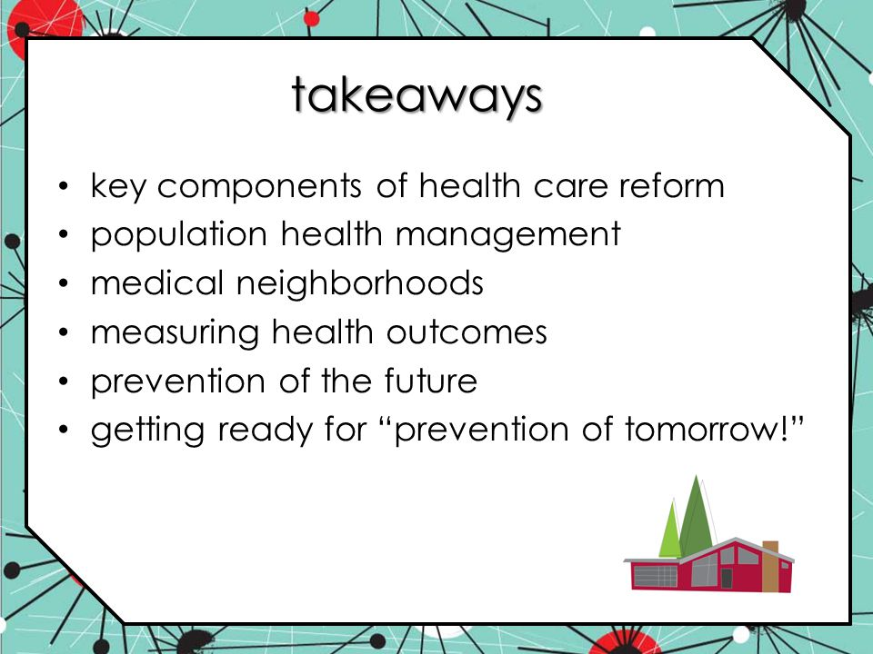 takeaways key components of health care reform