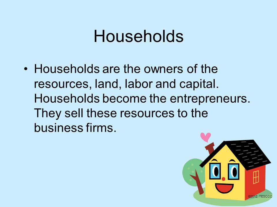 Resource Market Households Businesses