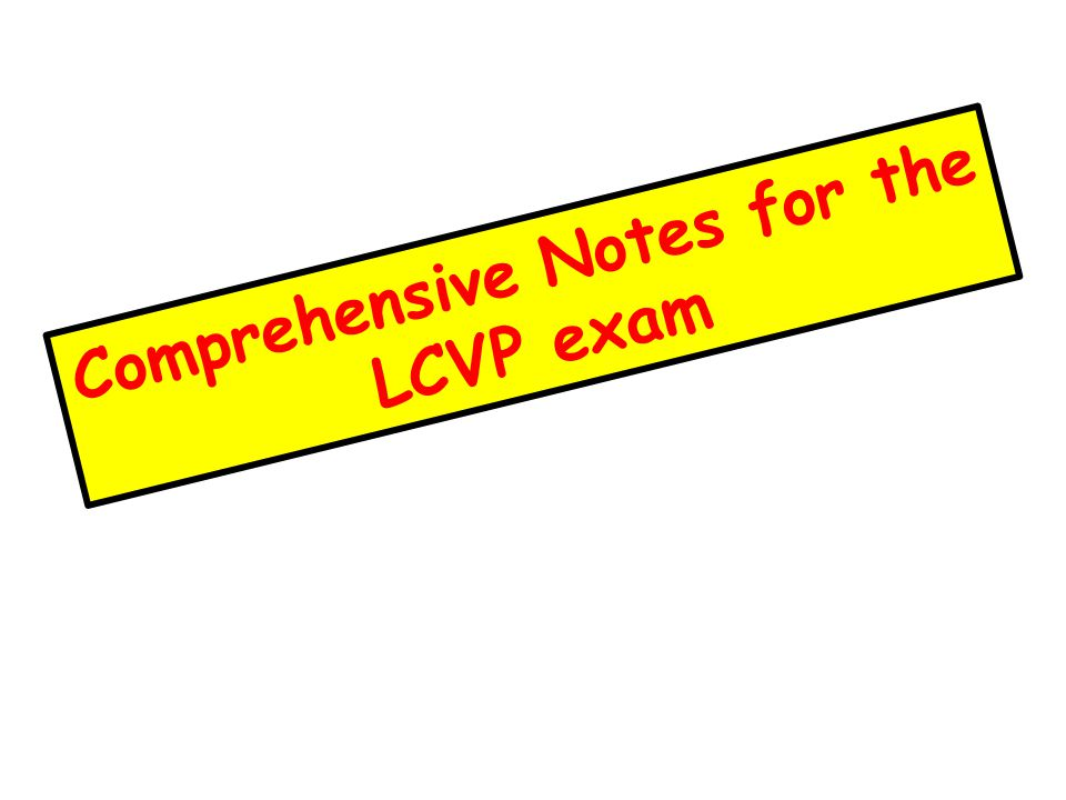 lcvp case study 2015 notes