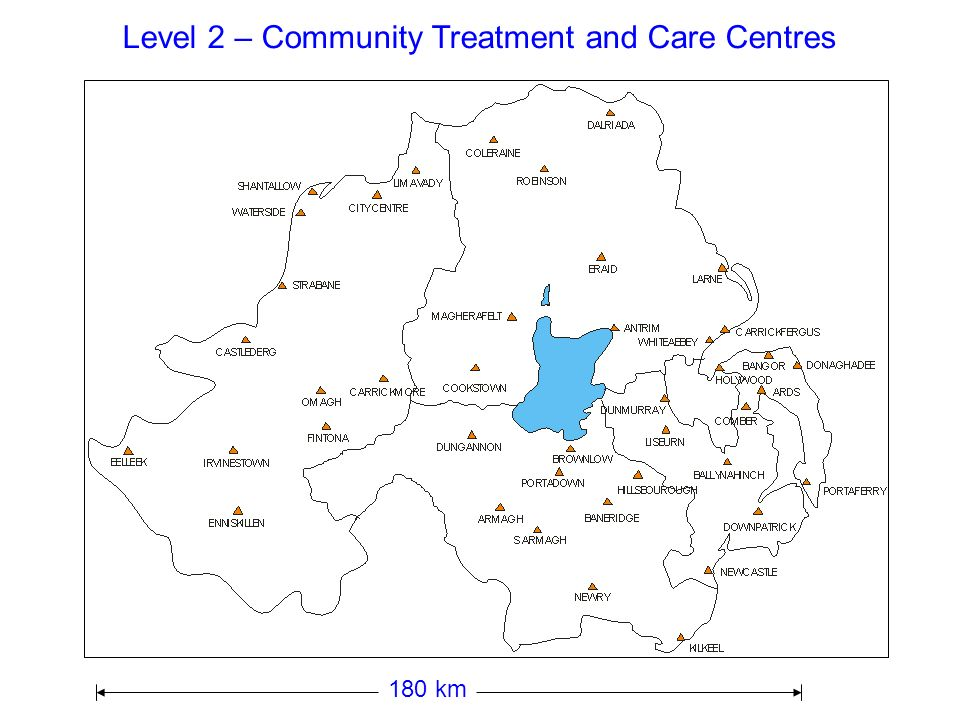 Level 2 – Community Treatment and Care Centres
