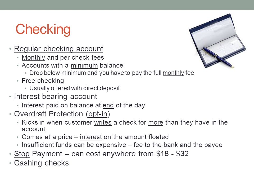Lesson 9: Choosing and Balancing a checking account - ppt download