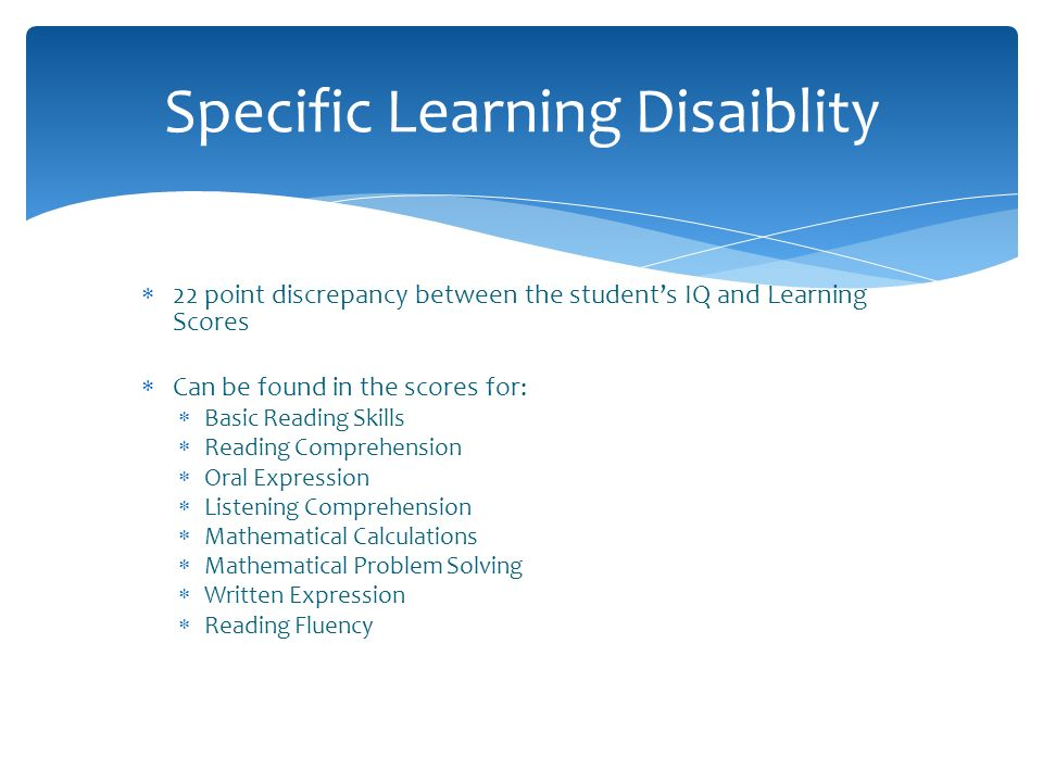 Specific Learning Disaiblity